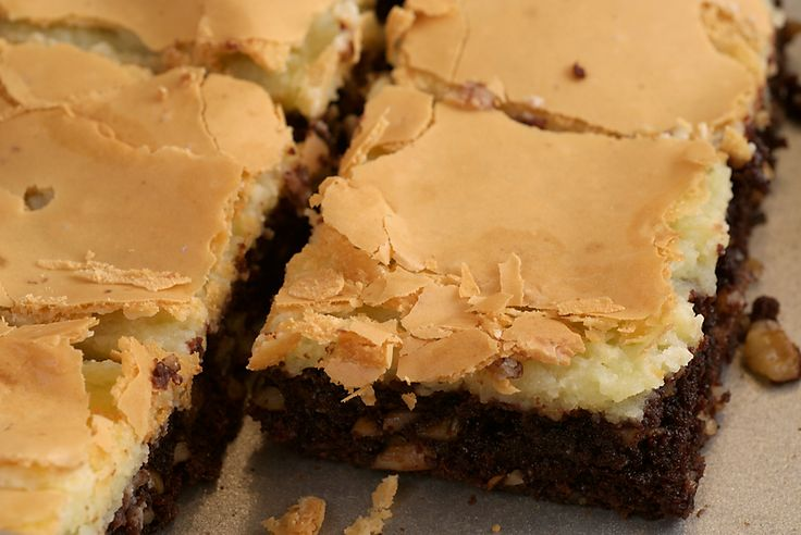 Chocolate Chess Squares combine chocolate and cream cheese in an irresistible dessert!
