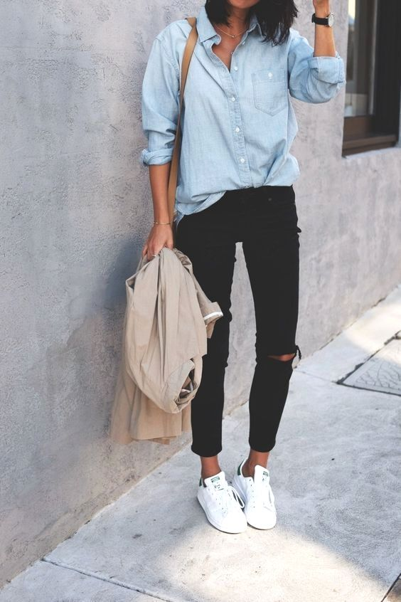 1d1e5f2acabf Street-style outfit ideas for wear sneakers by using spring and summer  dresses. fashion sneakers outfit work  fashionsneakersoutfit   fashionsneakers   ...