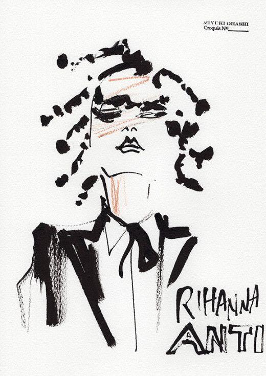 Rihanna's Album Cover, ANTI, by Miyuki Ohashi