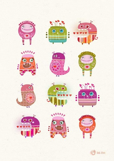 love monsters by ink five