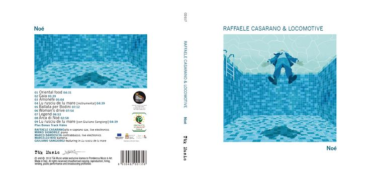 TUKMUSIC - Cover design for Raffaele Casarano - CD Noè