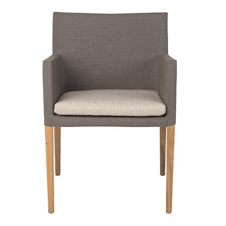 Finn Outdoor Dining Chair  Taupe/Teak Colour