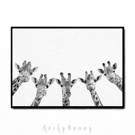 Giraffe print nursery printable animal art safari nursery