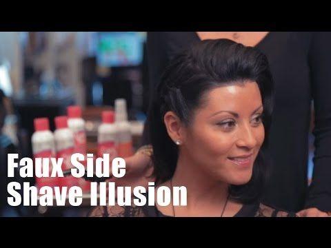 Faux Side Shave Illusion