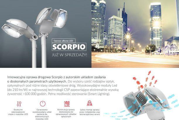 Oświetlenie drogowe, uliczne LED SCORPIO
