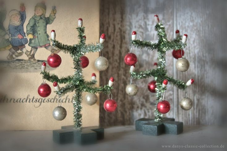 weihnachtsbaum tannenbaum miniatur minibaum puppenstube vintage shabby chic deko. Black Bedroom Furniture Sets. Home Design Ideas