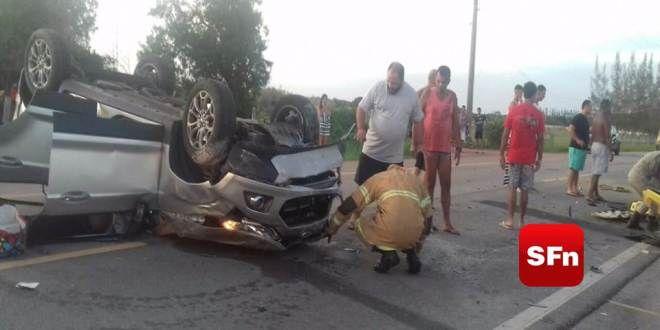 Colisão entre veículos deixa três feridos na BR-356 em São João da Barra – SF Notícias