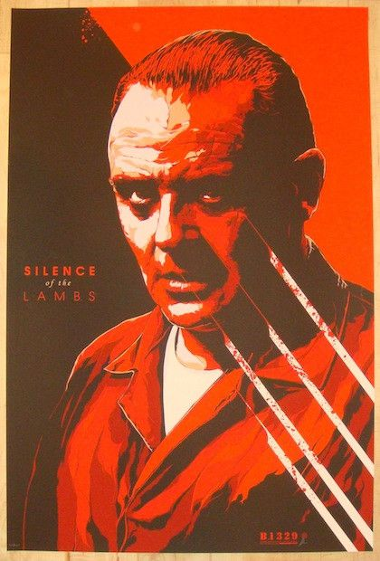 "2013 ""Silence Of The Lambs"" - Movie Poster by Ken Taylor"