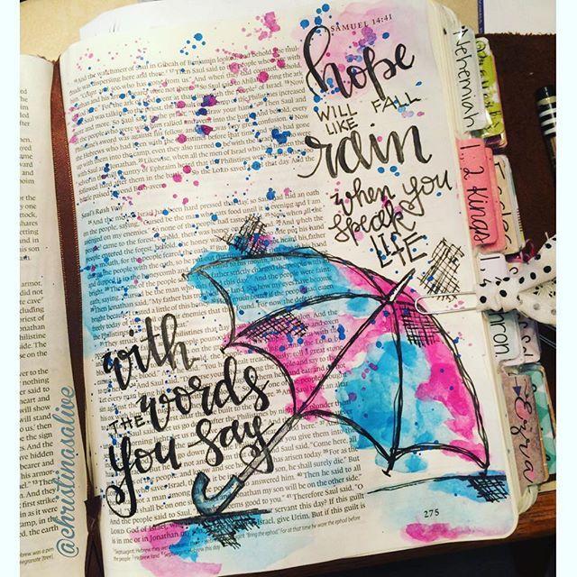 Bible Journaling by Christina Lowery @christinasalive | 1 Samuel 14
