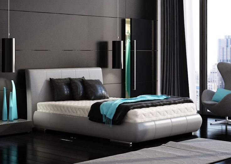 Modern Blue And Black Bedroom 8 best interiors - bedroom images on pinterest | architecture