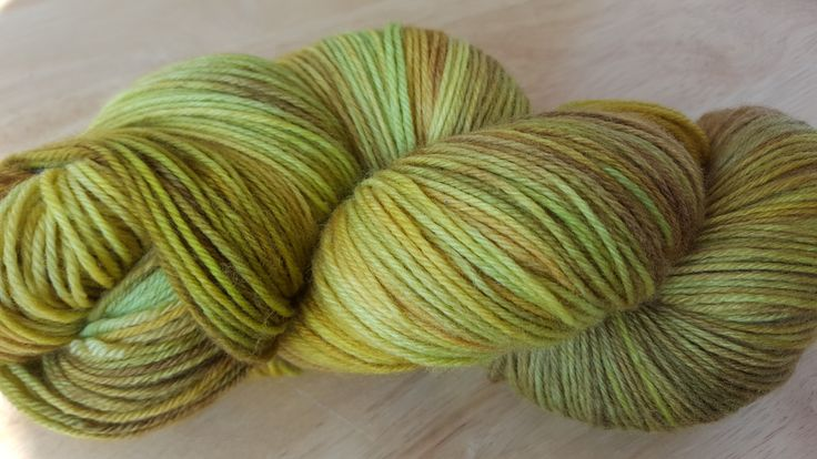 "Hand Dyed Sock Yarn Superwash Merino Wool Fingering Weight in ""Professor's Jacket"" Colourway $29 or $8 for Mini Skein"