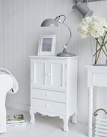 Lyon white cupboard in living room