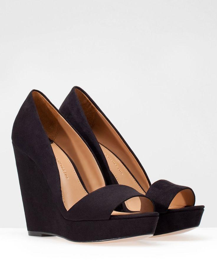 Chaussures basiques à talon compensé et plateforme