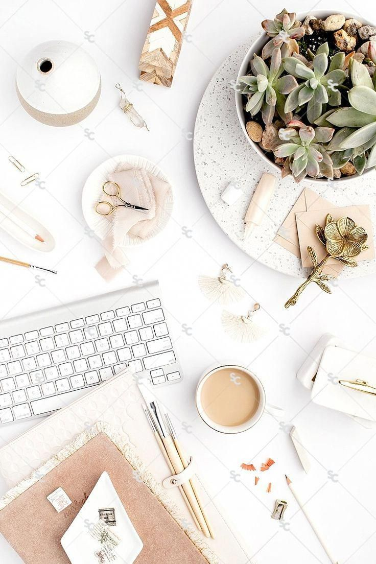Neutral Boho Desktop Styled Stock Photography for Business