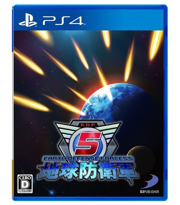 PS4 Earth Defense Forces 5 Action Shooting Battle Simulation Games #D3PUBLISHER