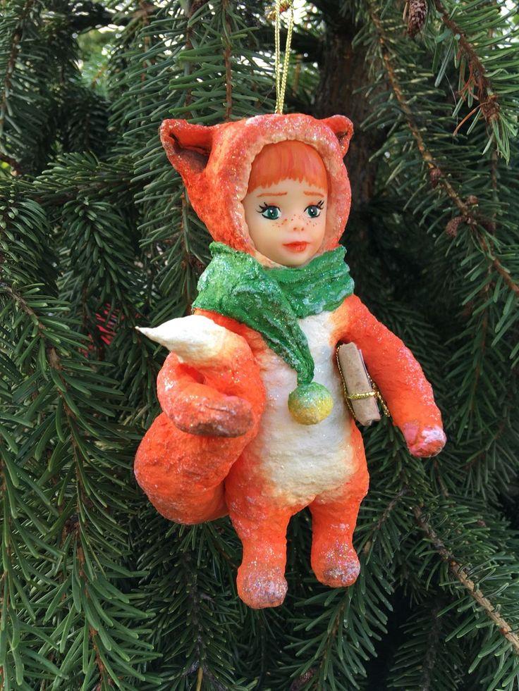 Купить Лисичка, игрушка из ваты в интернет магазине на Ярмарке Мастеров