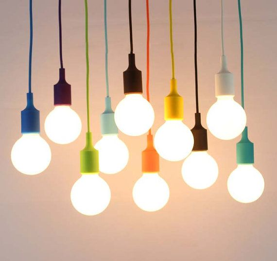 DIY colorful pendant light holders pendant lamps 13 different colors E27 base 110V/220V Modern Colorful Silicone Pendant Lights (no bulbs)