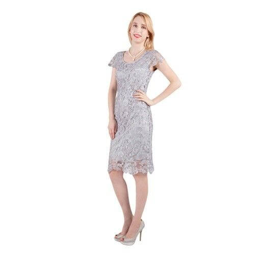 Classic lace dress with sleeves, lots of colours to choose from