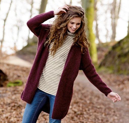 Yarn fine wool bordeaux - Stoff & Stil
