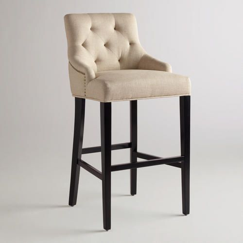 One of my favorite discoveries at WorldMarket.com: Linen Lydia Barstool