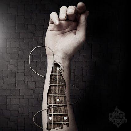Music runs through my veins | Guitar | Tattoo | Arm