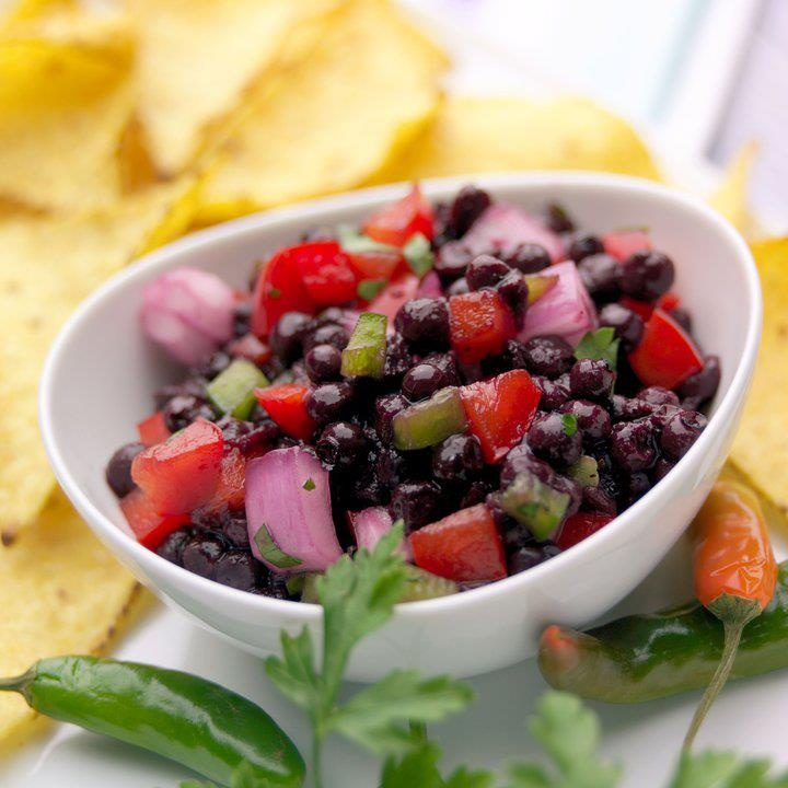 Blueberry Salsa-     2 cups chopped fresh blueberries,  1 cup whole fresh blueberries,  1 tablespoon finely chopped jalapeno pepper,  1/3 cup chopped red onion,  1/4 cup chopped red bell pepper,  1 fresh lime, juiced,  Sea salt to taste-    Directions-  In a bowl, combine chopped and whole blueberries, jalepeno pepper, onion, red pepper, lime juice, and salt.Summer Food, Living Recipe, Food Products, Belle Peppers, Blueberries Salsa, Peppers Blueberries, Healthy Food, Food Alliance, Fresh Blueberries