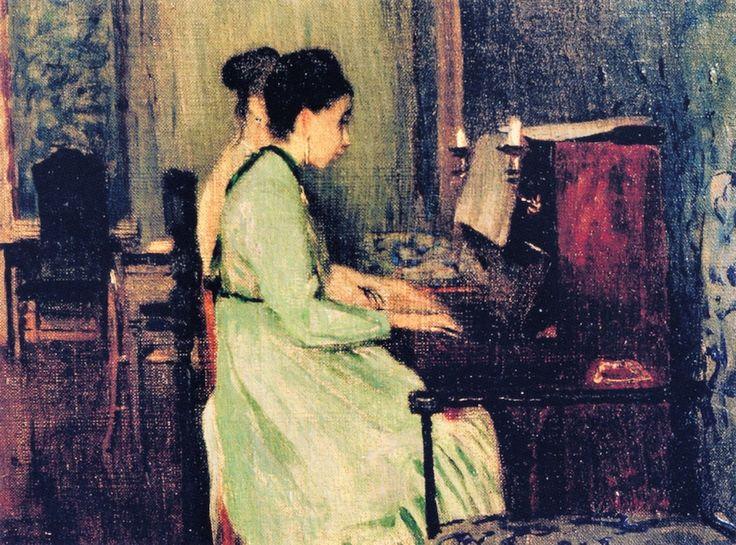 Telemaco Signorini - Lezione di pianoforte