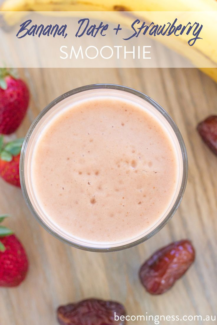 Banana-Date-strawberry-Smoothie