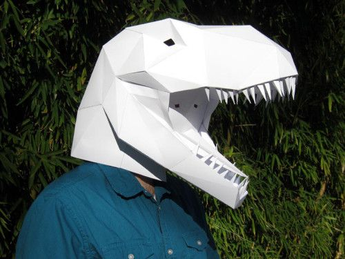 DIY T-Rex Paper Mask                                                                                                                                                                                 More