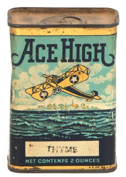 Thyme, Ace High Spice Tin | Antique Advertising Value and Price Guide