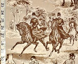 Horse fabric from Brick House Fabric: Novelty Fabric