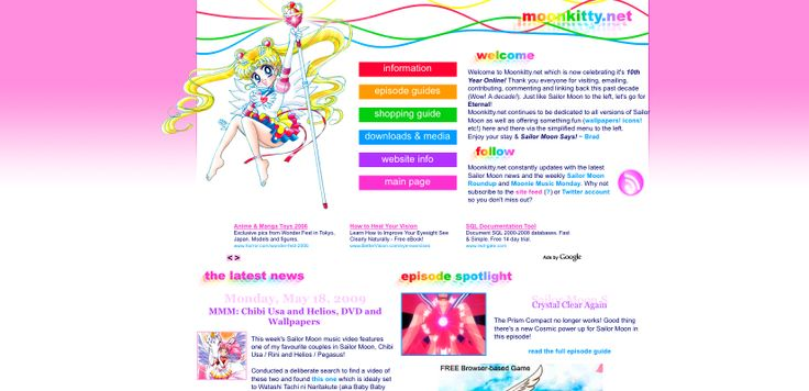 moonkitty.net: New Sailor Moon Anime in 2013, Sailor Moon Manga, Movie, Original Anime, Live Action, Musicals, T-Shirts, Episode Guides and More. 1999 ~ 2013