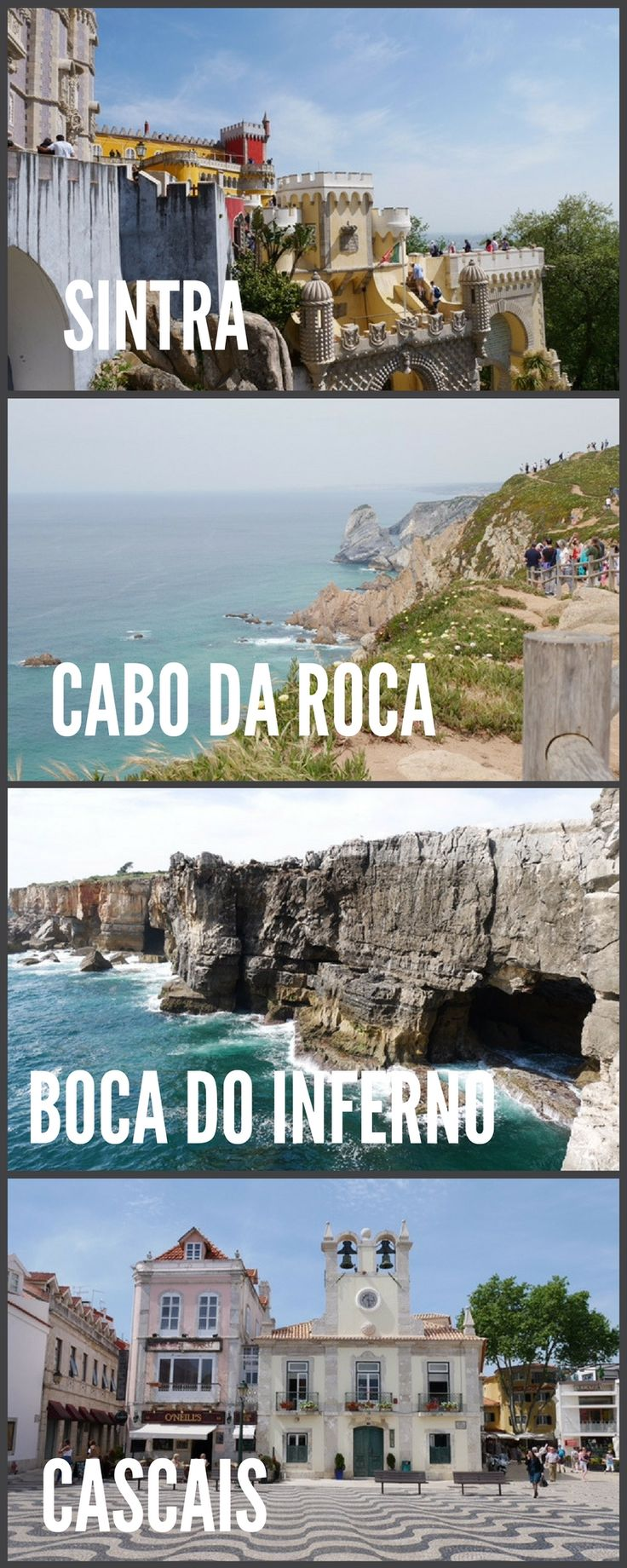 The most popular day trip from Lisbon is to wonderful Sintra but many more places in the area deserve a visit. Click on the image to see how to easily visit Sintra, Cabo da Roca, Boca de Inferno and Cascais Portugal all on in one day. best day trip from Lisbon | day trip Lisbon to Sintra | What to see in Sintra | Why you should visit Cascais | Visit Cabo da Roca, Portugal