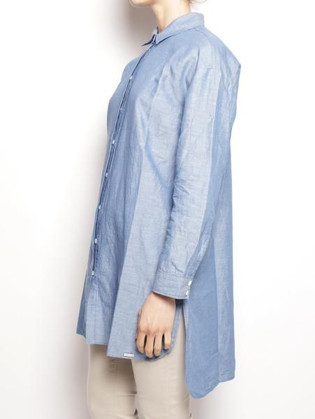 WOOLRICH DONNA W'S LIGHT OXFORD OVER SHIRT Oxford Blu Camicie - TRYMEShop