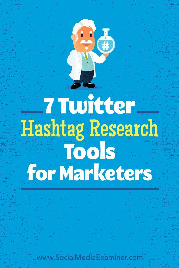 Do you use hashtags for marketing campaigns on Twitter?  Looking for hashtag tools to help improve your use of hashtags?  In this article, you��ll find seven hashtag tools for researching and reporting on Twitter hashtags. #Twitter #SocialMedia #SocialMedi