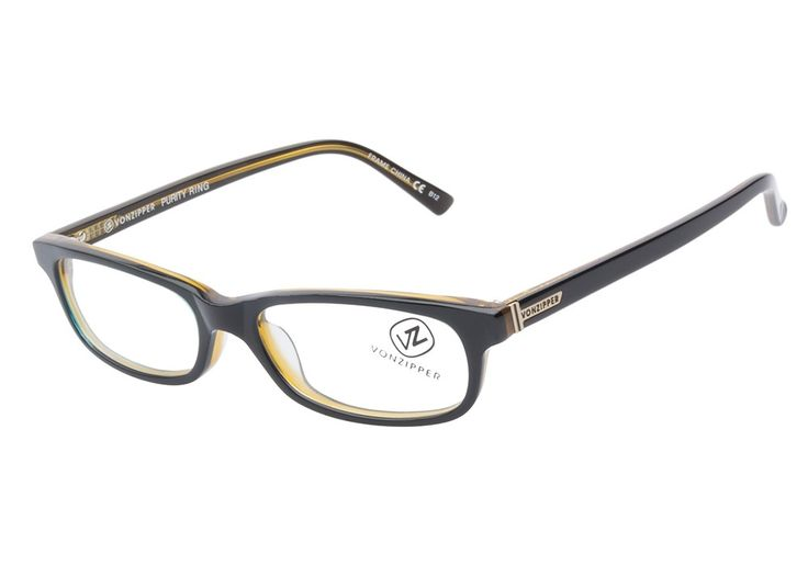 Quirky Glasses Frames : VonZipper Purity Ring BKB Black Blue Gold eyeglasses are ...
