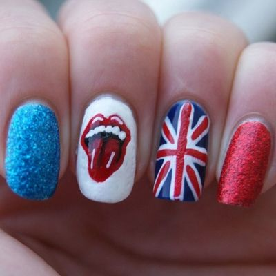 30 Best British Flag Nail Art Designs  #nailart #naildesigns2015 #britishnails