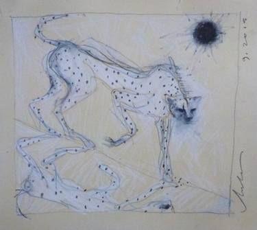 "Saatchi Art Artist Melora Walters; Drawing, ""Lunar Eclipse-3"" #art"