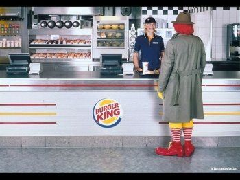 Guerrilla marketing - Ronald's lunch break preference!