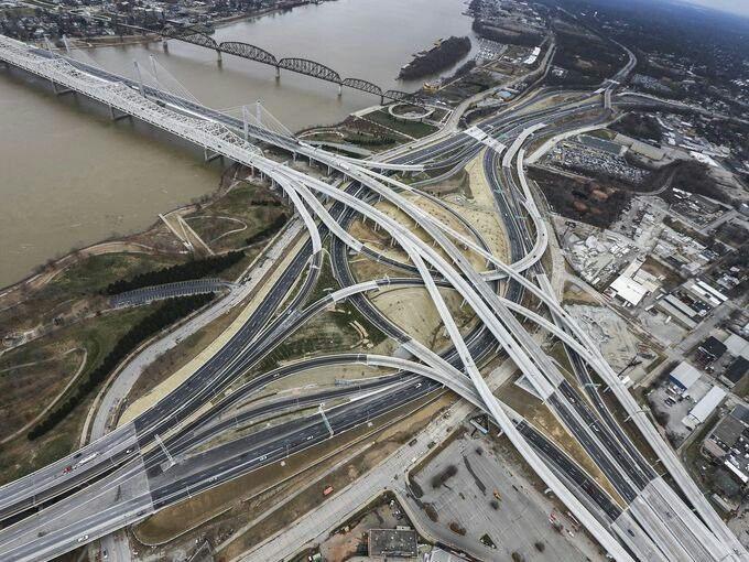 Lincoln, Kennedy Bridges, Spaghetti Junction