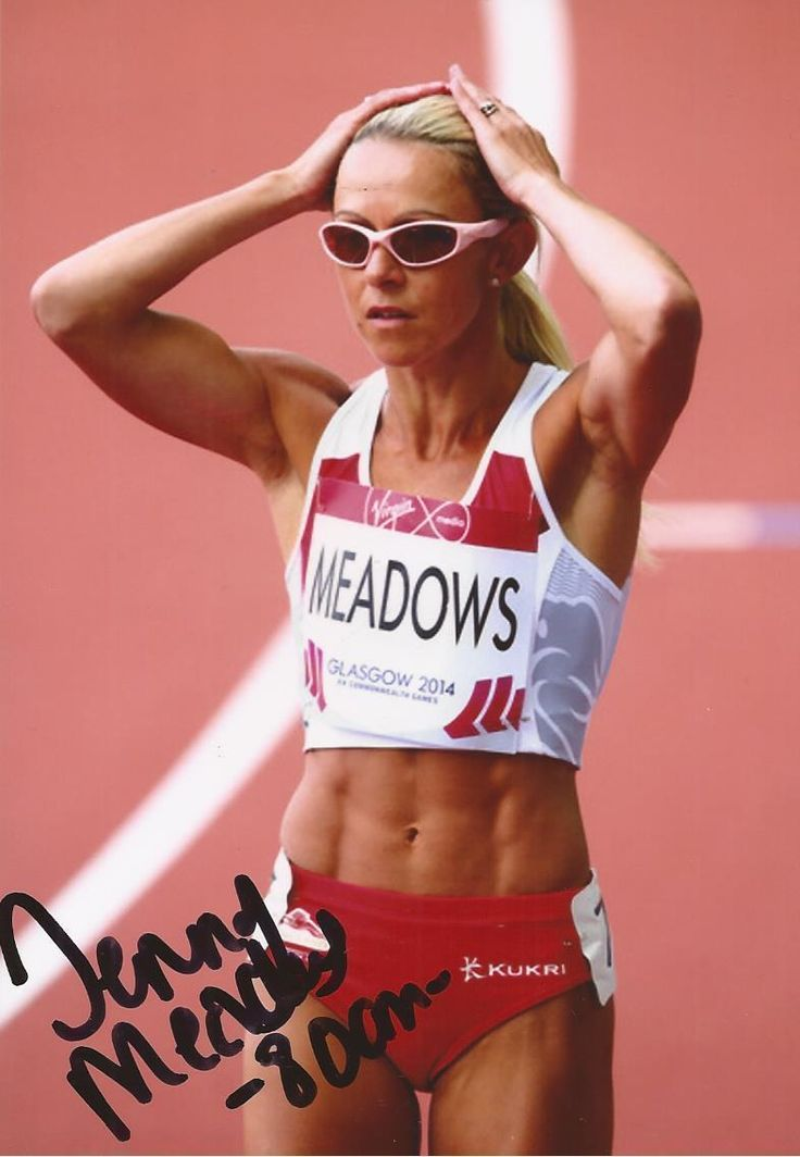 ATHLETICS: JENNY MEADOWS SIGNED 6x4 ACTION PHOTO+COA *TEAM GB* | eBay