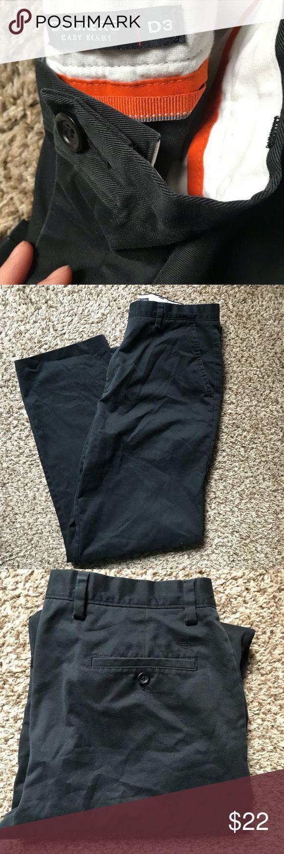 Men's Black khaki style Dockers pants Black khaki style D3 Dockers pants; 60% cotton; 40% polyester Dockers Pants Chinos & Khakis