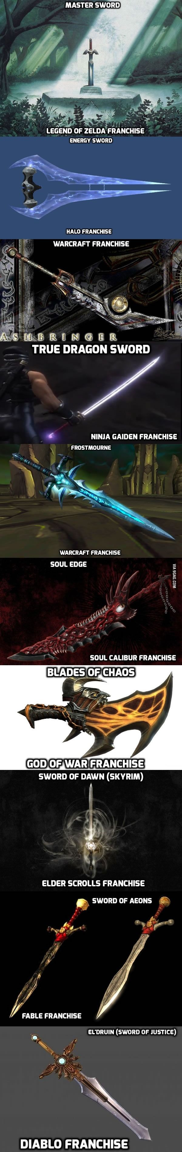 Which sword would you choose to own? (If they were real)