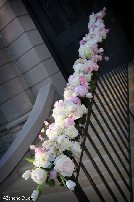 24 best railing wedding decour images on pinterest wedding flowers outside the church junglespirit Images