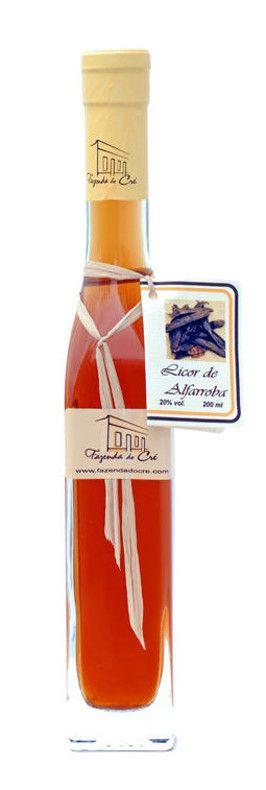 Liqueurs  made from Carob, Fig and other fruits produced by Fazenda do Cré, Fuseta, East Algarve, Portugal