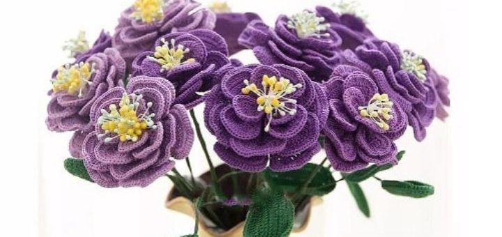 Японская роза крючком. Схемы вязания (8)