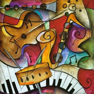 La musica presente en los coloridos murales