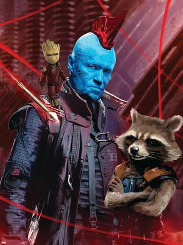 Guardians of the Galaxy: Vol. 2 - Groot, Yondu, Rocket Raccoon Posters - at AllPosters.com.au