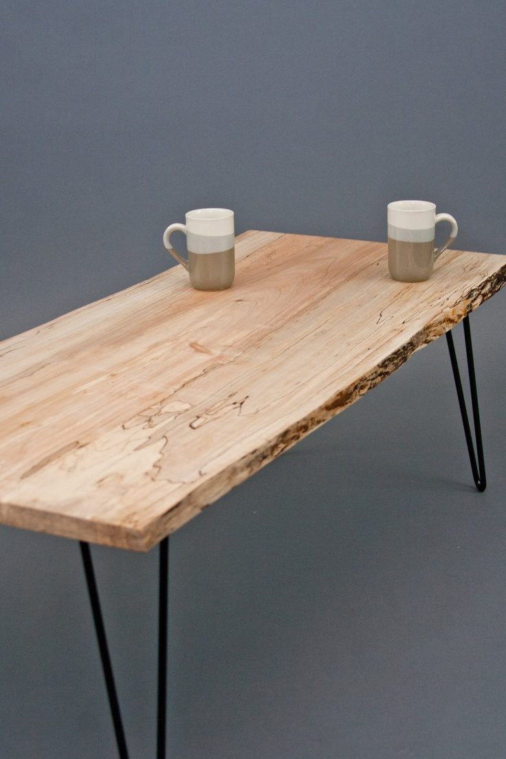 Spalted Maple Coffee Table - ReclaimedLive Edge/Natural/Unique