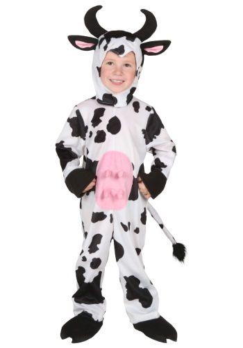 Moo-ve over other animal costumes! This Toddler Cow Costume is the king of the cow ring!
